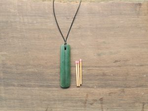 Green Pounamu Single Grooved Drop