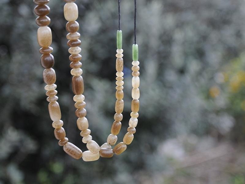 Brown Siberian jade beads