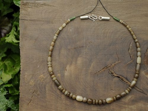 brown jade beads