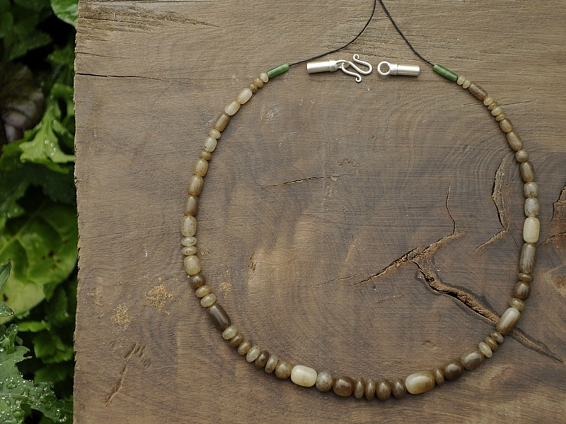 brown jade beads