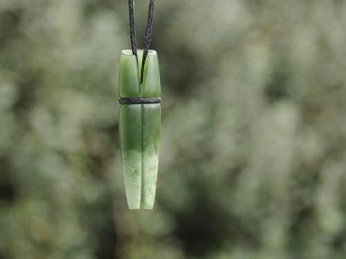flower pounamu rolled leaf