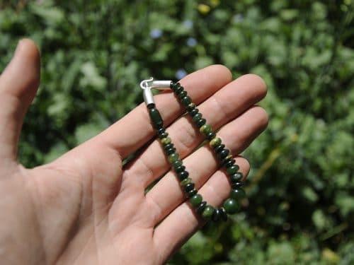 flower pounamu beads greenstone